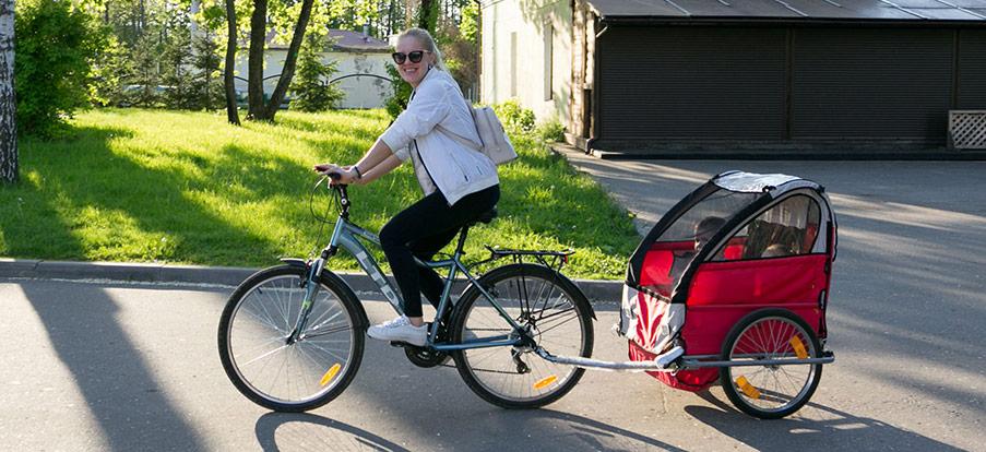 Cykelvagnar för snabb transport